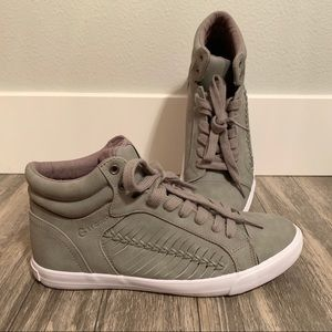 G by Guess like new gray high tops